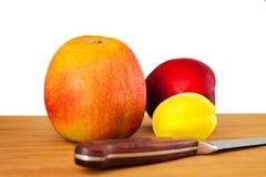 Nektarin Apple, plommon arkivbilder