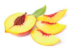 Nektarinfruktset Arkivfoto