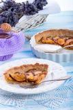 Nektarintarte med lavendel och honung Fotografering för Bildbyråer