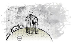 Nel birdcage. Immagine Stock