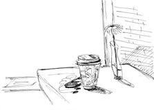 Nel caffè Fotografia Stock Libera da Diritti