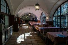Nel caffè La città di Monaco di Baviera bavaria germany fotografia stock