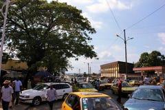 Nel centro di Douala, il Cameroun Fotografia Stock Libera da Diritti