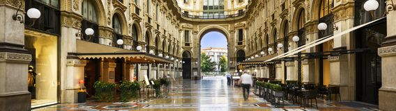 Nel cuore di Milano, l'Italia Fotografie Stock