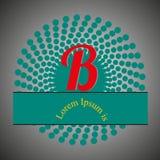 Nel disegno, il logo della lettera B fotografie stock libere da diritti