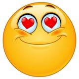 Nel emoticon di amore Fotografia Stock