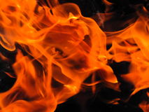 Nel fuoco Fotografie Stock Libere da Diritti