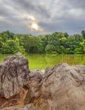 Nel lago Fotografia Stock