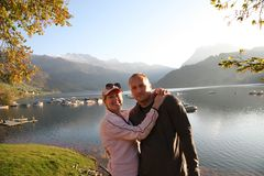 Nel lago di autunno insieme Fotografia Stock Libera da Diritti