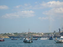 Nel Mar Nero Fotografie Stock