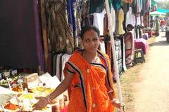 Nel mercato degli articoli in India fotografia stock