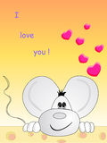 Nel mouse di amore Fotografie Stock