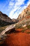 Traccia rossa della roccia Fotografia Stock
