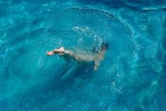 Nel paradiso blu fotografia stock libera da diritti
