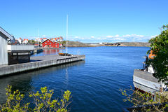 Nel porto di Marstrand, la Svezia Fotografia Stock