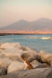 Nel porto di Napoli Fotografie Stock Libere da Diritti