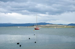 Nel porto di Ushuaia - la città più a sud della terra Fotografie Stock