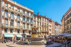 Nel posto di Trinite a Tolosa Immagini Stock Libere da Diritti