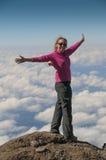Nel rosa sopra le nuvole Kilimanjaro Fotografie Stock