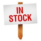 Nel segno di riserva isolato su fondo bianco Fotografie Stock Libere da Diritti