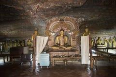 Nel tempio reale della roccia, Dambulla, Sri Lanka Immagine Stock