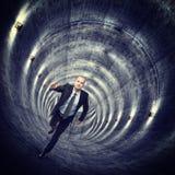 Nel tunnel del tunnel Fotografia Stock Libera da Diritti