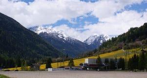 Nel Ultental nel Tirolo del sud Fotografie Stock Libere da Diritti