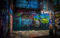 Nel vicolo dei graffiti, Baltimora Fotografia Stock Libera da Diritti