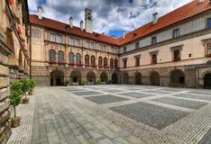 Nelahozeves castle courtyard Stock Photography