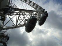 Nell'ambito del lato di London Eye fotografia stock libera da diritti