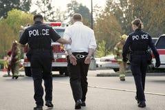 Nell'ambito dell'arresto Fotografie Stock Libere da Diritti