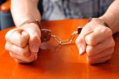Nell'ambito dell'arresto Immagine Stock