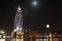 Nell'ambito della luce della luna Fotografia Stock