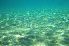 Nell'ambito della scena dell'acqua nel mare Fotografie Stock