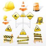 Nell'ambito delle icone delle costruzioni Fotografie Stock