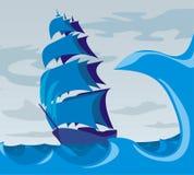 Nell'ambito di tela di canapa - mare agitato Immagine Stock