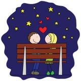 Nell'amore illustrazione di stock