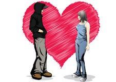 Nell'amore senza priorità bassa Fotografie Stock