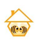 Nell'ape di amore Fotografia Stock