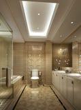 Nell'appartamento senior nel bagno di lusso della famiglia di Shanghai Fotografie Stock Libere da Diritti
