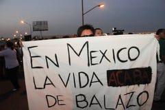 Nell'estremità di vita del Messico con bulletspeed Fotografie Stock