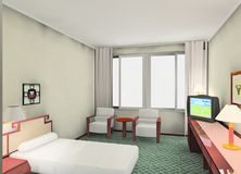 Nell'hotel Fotografia Stock