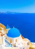Nell'isola di Santorini in Grecia Immagini Stock Libere da Diritti