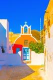 Nell'isola di Santorini in Grecia Fotografie Stock Libere da Diritti