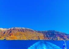 Nell'isola di Santorini in Grecia Fotografia Stock