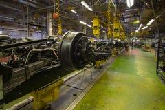 Nell'officina della fabbrica del camion Fotografie Stock Libere da Diritti