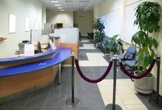 Nell'ufficio della banca Immagine Stock
