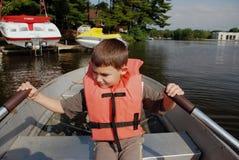 Nella barca Fotografie Stock