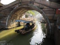 Nella barca immagine stock