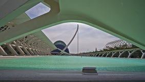 Nella città delle arti e delle scienze a Valencia Immagine Stock Libera da Diritti